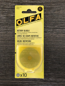 Olfa Tungsten Steel Blades Replacements 45 MM, 10 Pack