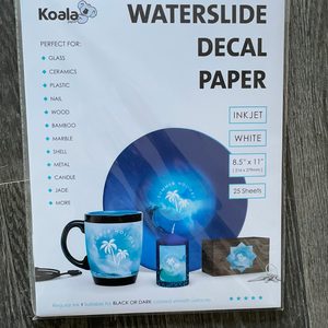 Waterslide Decal Paper for Inkjet Printers White
