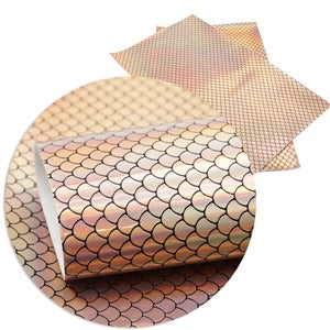 Pink Mermaid Scales Faux Leather ROLL