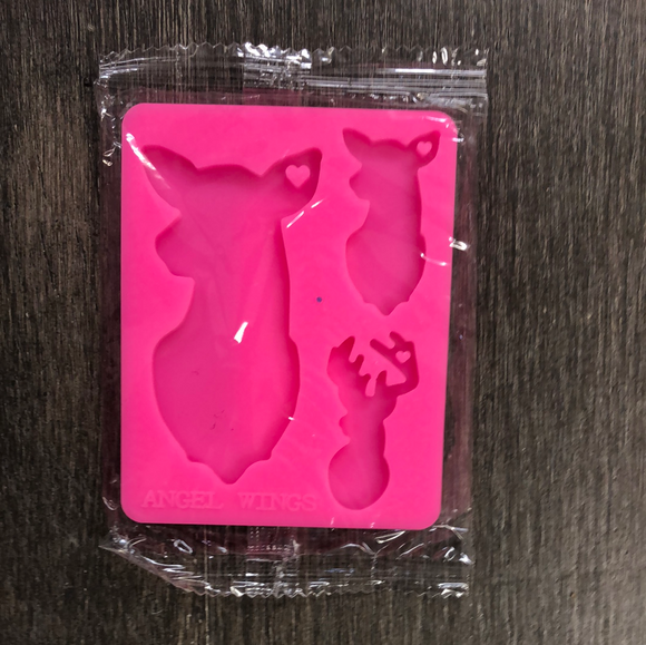 Shiny Deer Mom, Baby Silicone Mold