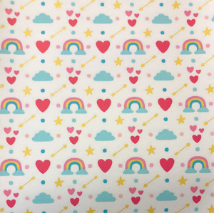 Rainbows Hearts Faux Leather