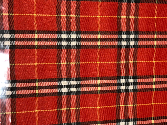 Faux Leather Plaid