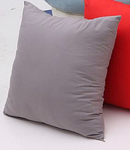 Polyester Pillow Cover- Grey