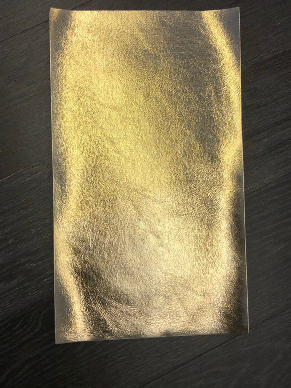 Textured Glossy Faux Leather - Gold