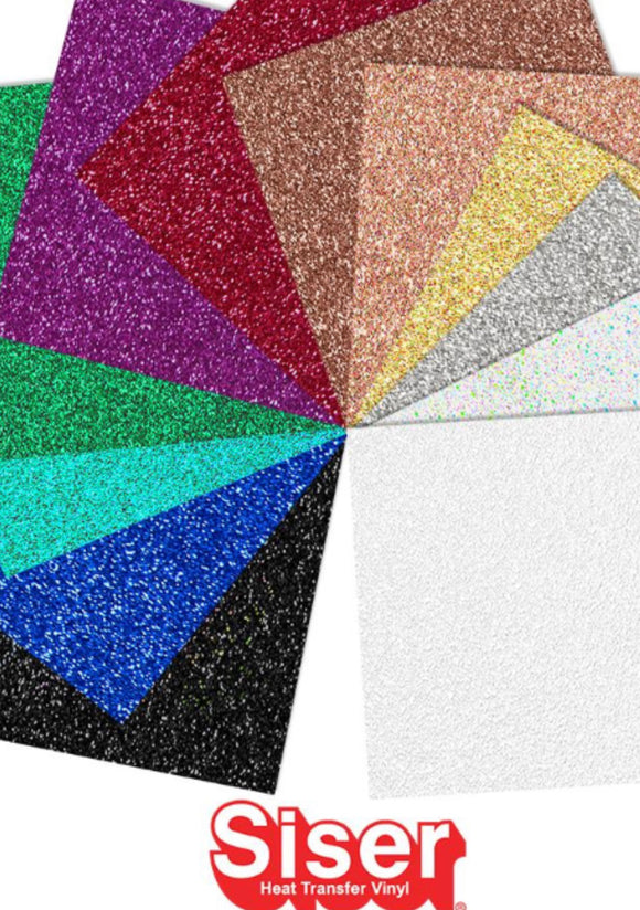 Starter Sampler of HTV Glitter sheets