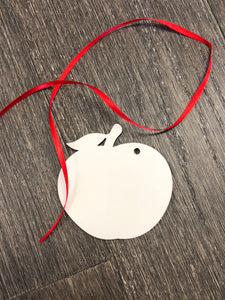 Large Apple Christmas Ornament