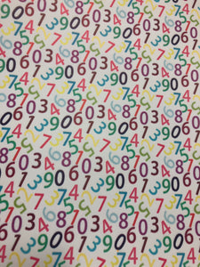 Colourful Numbers Faux leather