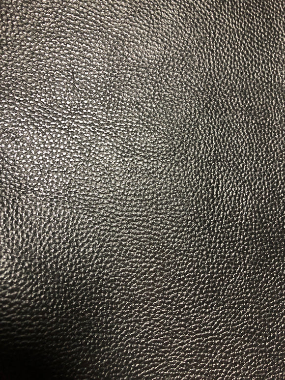 Faux Leather  Glossy Small Litchi Black