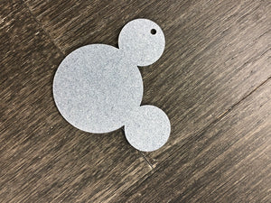 Acrylic Glitter Mouse head with Hole