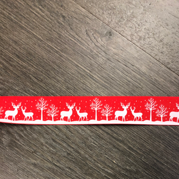 Glow in the Dark Red Ribbon with Deer