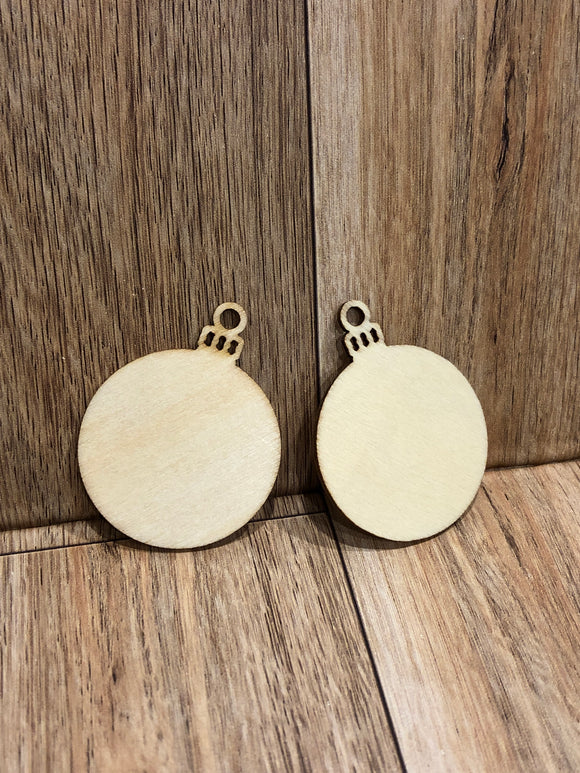 Birch Wooden Ornament Blanks  3.5-4 CM