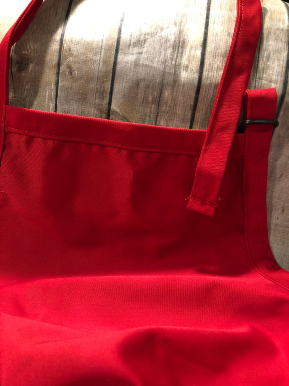 Aprons with  Adjustable Neck Strap - Red