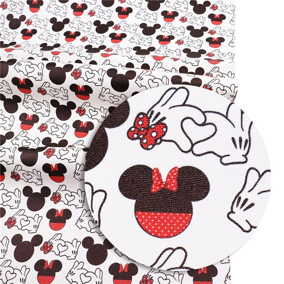 Heart Mouse Hands Faux leather
