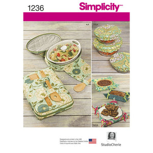 Simplicity Sewing Pattern # 1236  Casserole Carriers,  Bowl Covers and Fabric Gifting Baskets