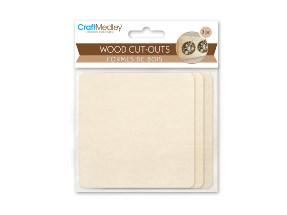 Wood Cut Outs - Square
