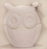 Large Owl Candle - Matte White
