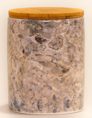 Grey Marble Canister Candle