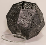 Black Hexagonal Tea Light Burner
