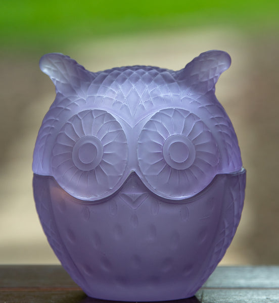 Large Owl Candle - Lilac