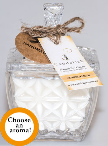 Glass Square Deluxe Soy Candle
