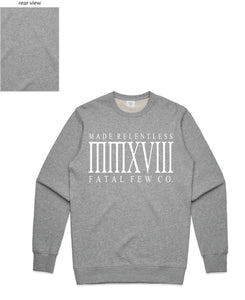Relentless Crewneck (Relentless Front/Plain Back) - more colours available