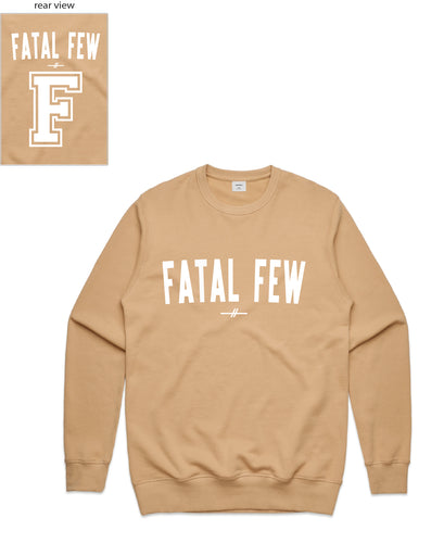 Varsity Crewneck (Fatal Few Front/F Fatal Few Back) - more colours available