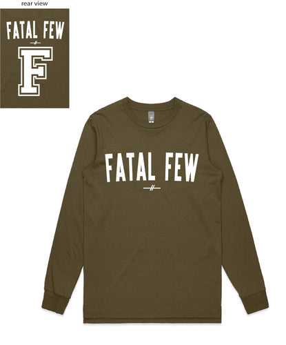 Varsity Long Sleeve (Fatal Few Front/'F' Fatal Few Back) - more colours available