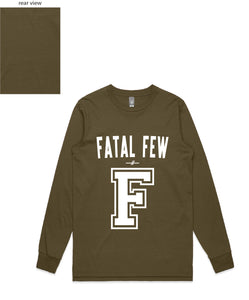 Varsity Long Sleeve ('F' Fatal Few Front/Plain Back) - more colours available