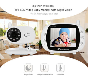 Wireless Baby Monitor 2 Way Talk WIFI Video Security Camera Night Vision  Temperature Detect