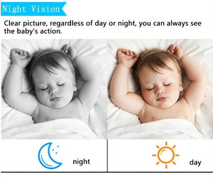 Wireless LCD Color Video Audio Baby Monitor Camera Infrared Night Vision
