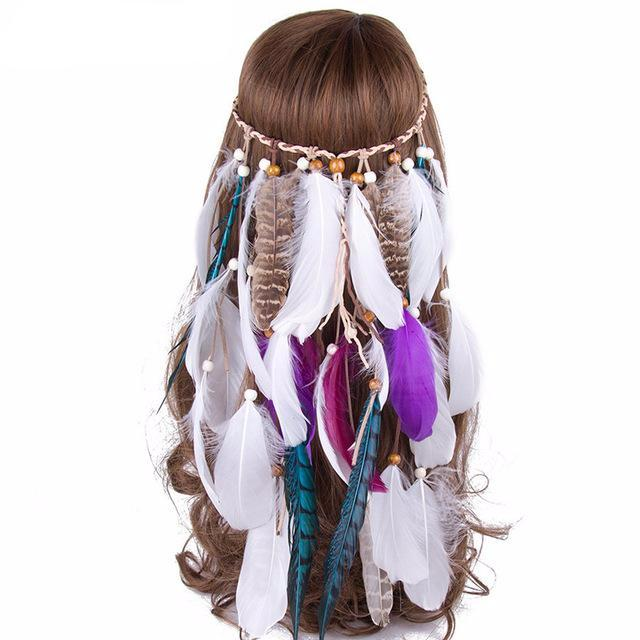 Feather Plumage Head Piece