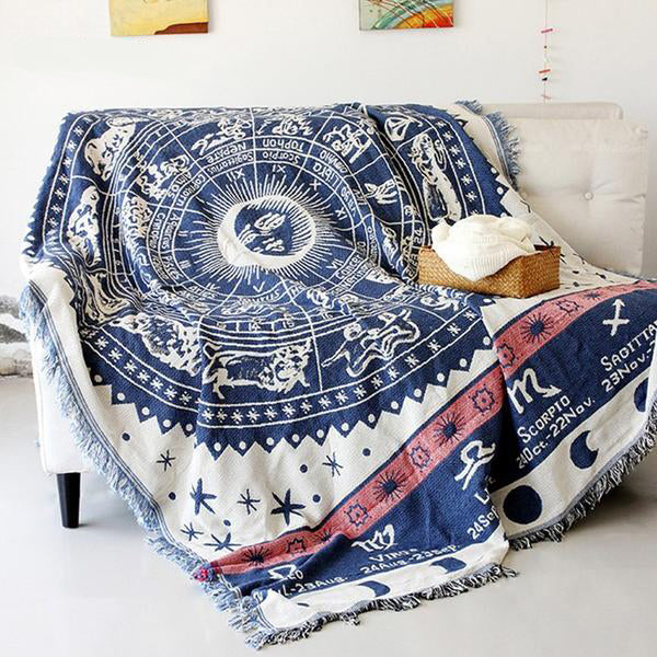Celestial Star Signs Cotton Tapestry/Throw
