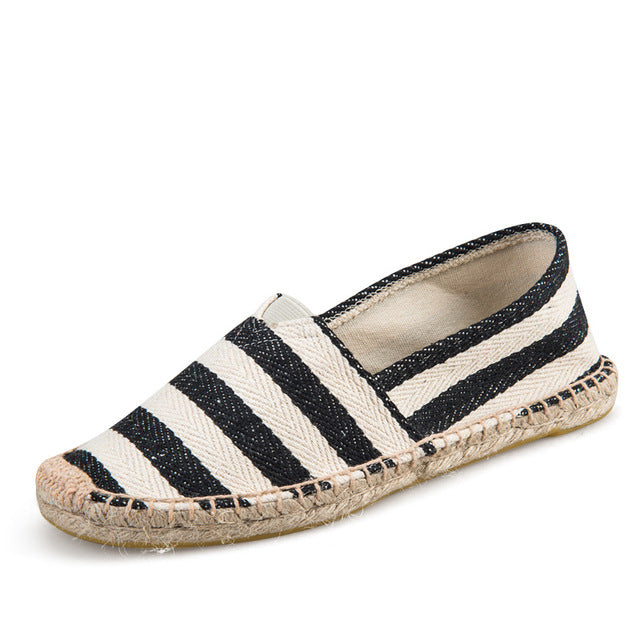 Stripy Fisherman's Loafer Shoes