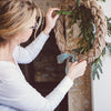 HANGING A WREATH FROM A MANTLE