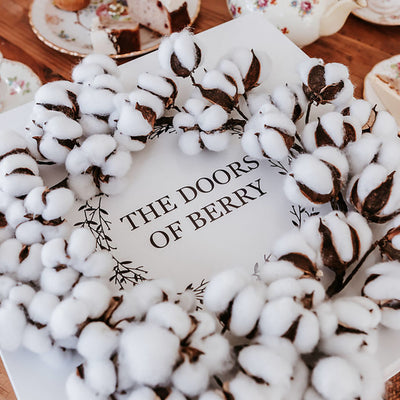 Cotton Wreath as a gift
