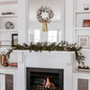 Cotton Wreath on Mantle