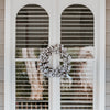 Cotton Wreath on Window