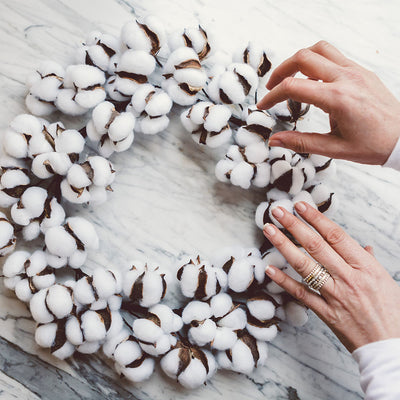 Cotton Wreath