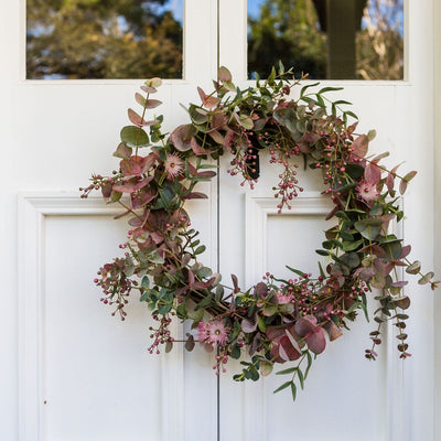 Limited Edition Red Eucalyptus Wreath