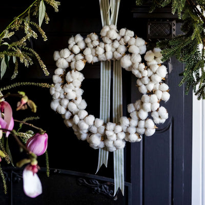 Australian Cotton Christmas Wreath (without accessories)