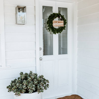 Merry Christmas/Welcome Double Sided Wreath Sign