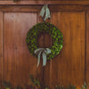 Preserved Boxwood Wreath with bow