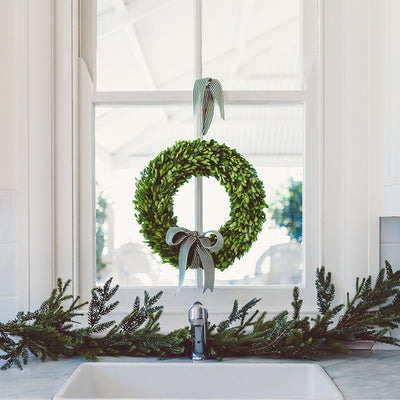 preserved boxwood christmas wreath