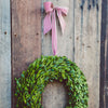 Preserved Wreath with red ribbon