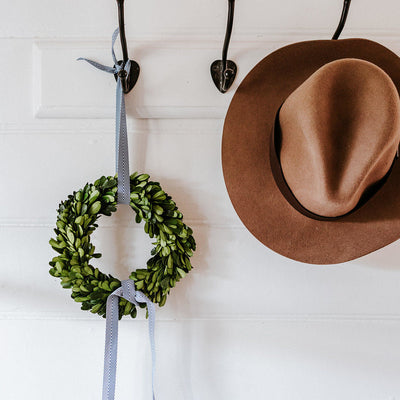 ANZAC Preserved Boxwood Wreath (Without Accessories)