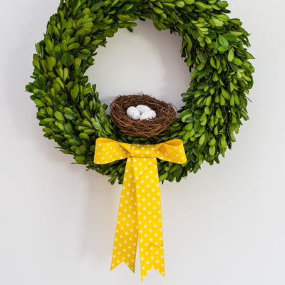 Easter Large Preserved Boxwood Wreath (without accessories)