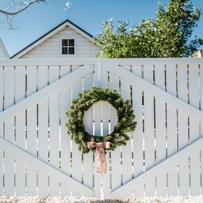 Faux Pine Wreath (without accessories)