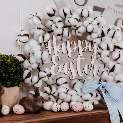 Easter Cotton Wreath