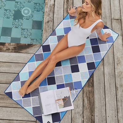 Cascade - Blue-Beach-Towel