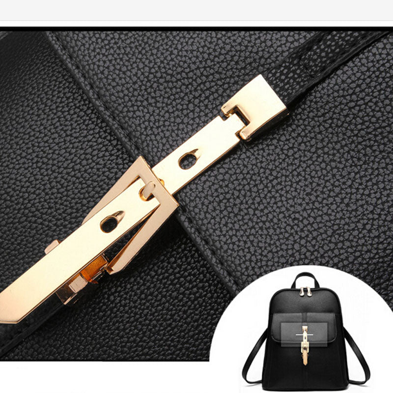 Fashion Lady Leather Backpack